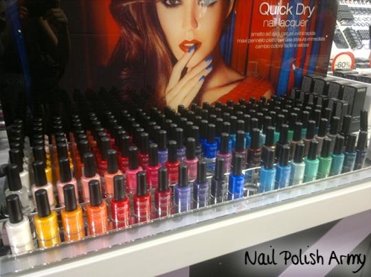 Kiko Quick Dry Nail Lacquer skittle swatches prime impressioni